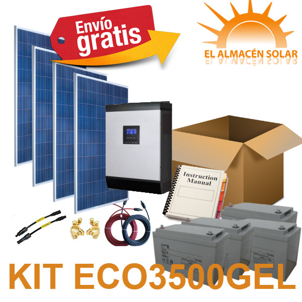 KIT PLACAS SOLARES ECO3500 GEL
