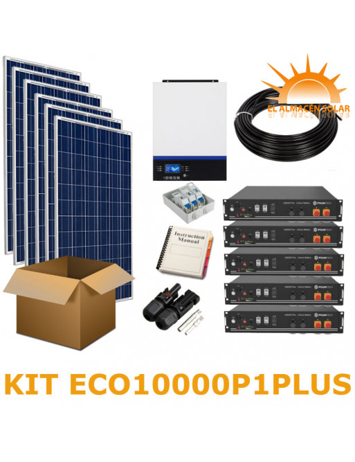 KIT SOLAR AISLADA ECO10000P1PLUS