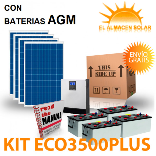 KIT PLACA SOLAR  ECO3500PLUS AGM